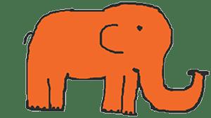 orange elephant bigger
